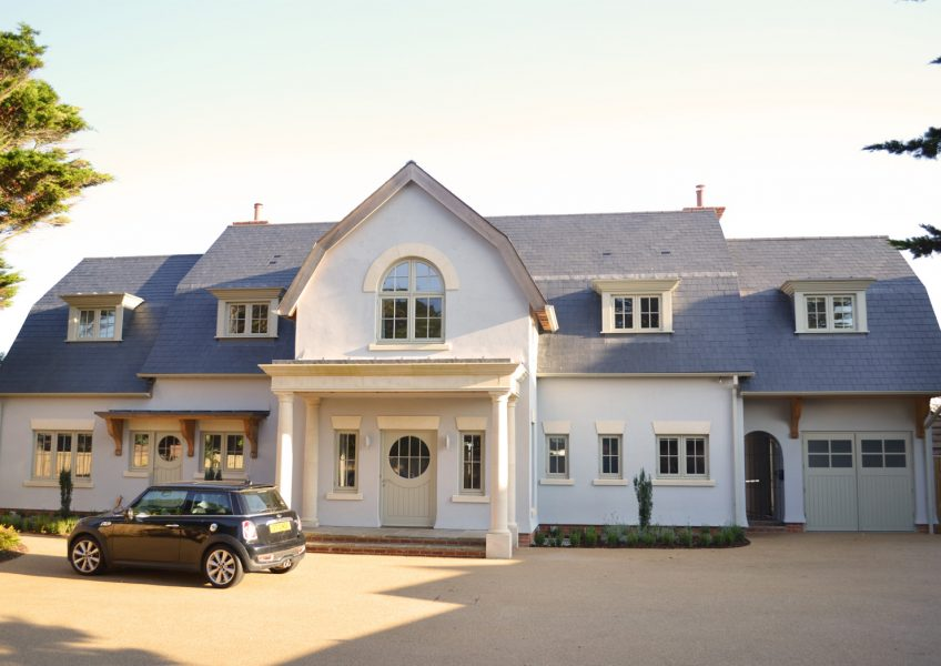 Sea Front Home – Front Elevation – New Home