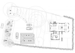 Site Plan. Permission granted for a replacement house in the South Downs Nation Park